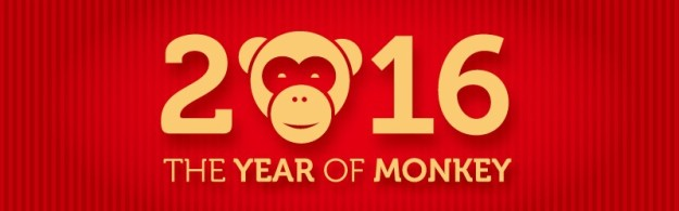 Calendar-2016-The-Year-of-Monkey-Vector